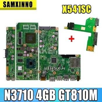 New Free HDD board For Asus X541UVK X541UV X541UJ F541U R541U laptop motherboard Mianboard N3710 4 cores 4GB RAMM GT810M