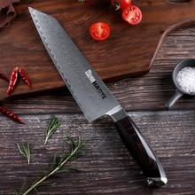 Damaszek steel chef nóż japoński vg10 mistrz noże kuchenne kiritsuke G10 uchwyt rzemieślnicze ostry nóż krajalnica Bunka moda