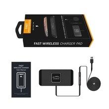 FULL C1 Auto Qi Drahtlose Ladegerät Pad Schnelle Lade Dock Station Nicht Slip Matte Auto Dashboard Halter Stehen für iPhone XR Xiaomi 9