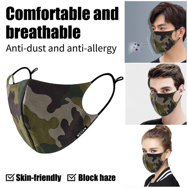 Outdoor Reusable Protective Pm2.5 Filter Camouflage Mouth Mask Dust Face Mask Windproof Mouth-muffle Bacteria Proof Flu Mask AP4