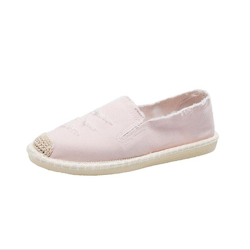 New Women Flats Shoes Slip on Casual Ladies Canvas Shoes Lazy Loafers Breathable Female Espadrilles 2020 Spring Zapatos De Mujer