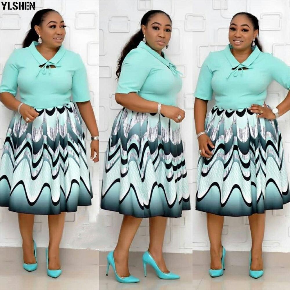 Print African Dresses For Women Vetement Femme 2019 Plus Size Dress African Clothes Ladies High Quality Dashiki Ankara Dresses