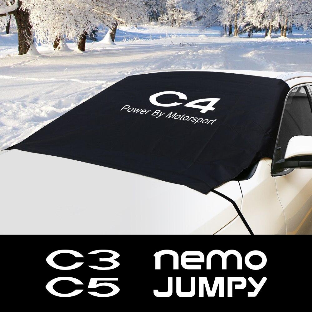 Car Windshield Snow Block Cover For Citroen Berlingo C1 C2 C3 C4 C4L C5 C6 C8 C-Crosser C-ELYSEE Jumpy Nemo Xsara VTS Picasso