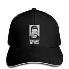 RON SWANSON WOMAN OF THE YEAR FUNNY OFFERMAN PARKS AND RECREATION PARODY Baseball cap snapback hat Peaked(China)