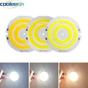 Image 1 - 3 فولت 4 فولت مستدير COB مصباح ليد 50 مللي متر قطر حلقة مزدوجة الباردة الأبيض LED مصباح 3.7 فولت 5 واط 7 واط COB رقاقة لمبة ل Work بها بنفسك العمل منزل ديكور أضواء