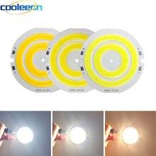 3v 4 12vラウンドcob ledライト50ミリメートル直径ダブルリングコールド白色ledランプ3.7v 5ワット7ワットcobチップ電球diy作業家の装飾ライト