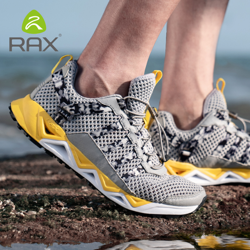 Rax Men's Aqua Upstreams Shoes Quick-drying Breathble Fishing Shoes Women Hole PU Insole Anti-slip Water Shoes Hiking