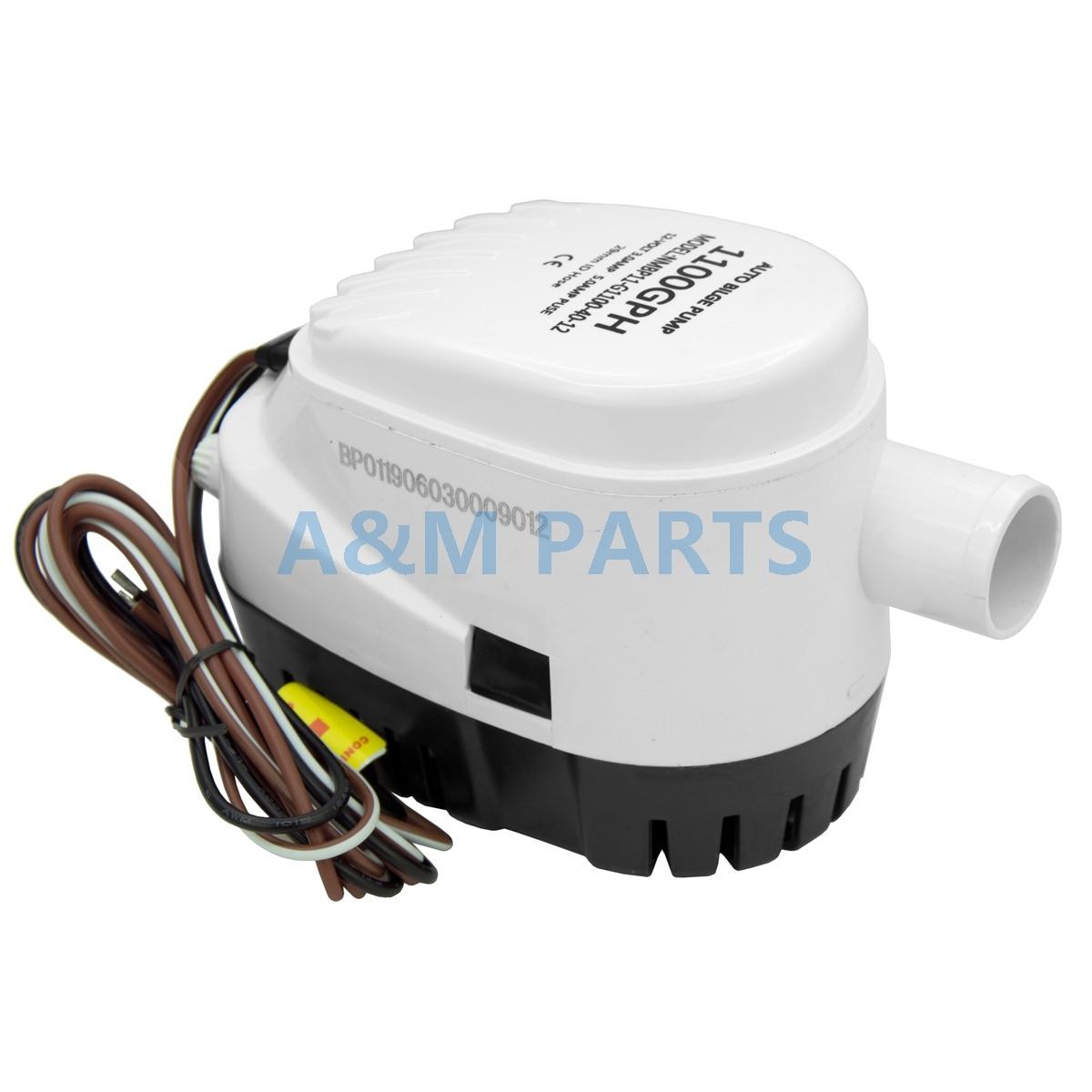 12V 1100GPH Marine Boat Automatic Bilge Pump RV Auto Submersible Water Pump