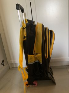 Image 3 - حقيبة المدرسة عربة 6 عجلات حقيبة قوية upster مقاوم للماء بعجلات الأطفال حقيبة مدرسية مع عجلات الفتيات الاطفال الأمتعة