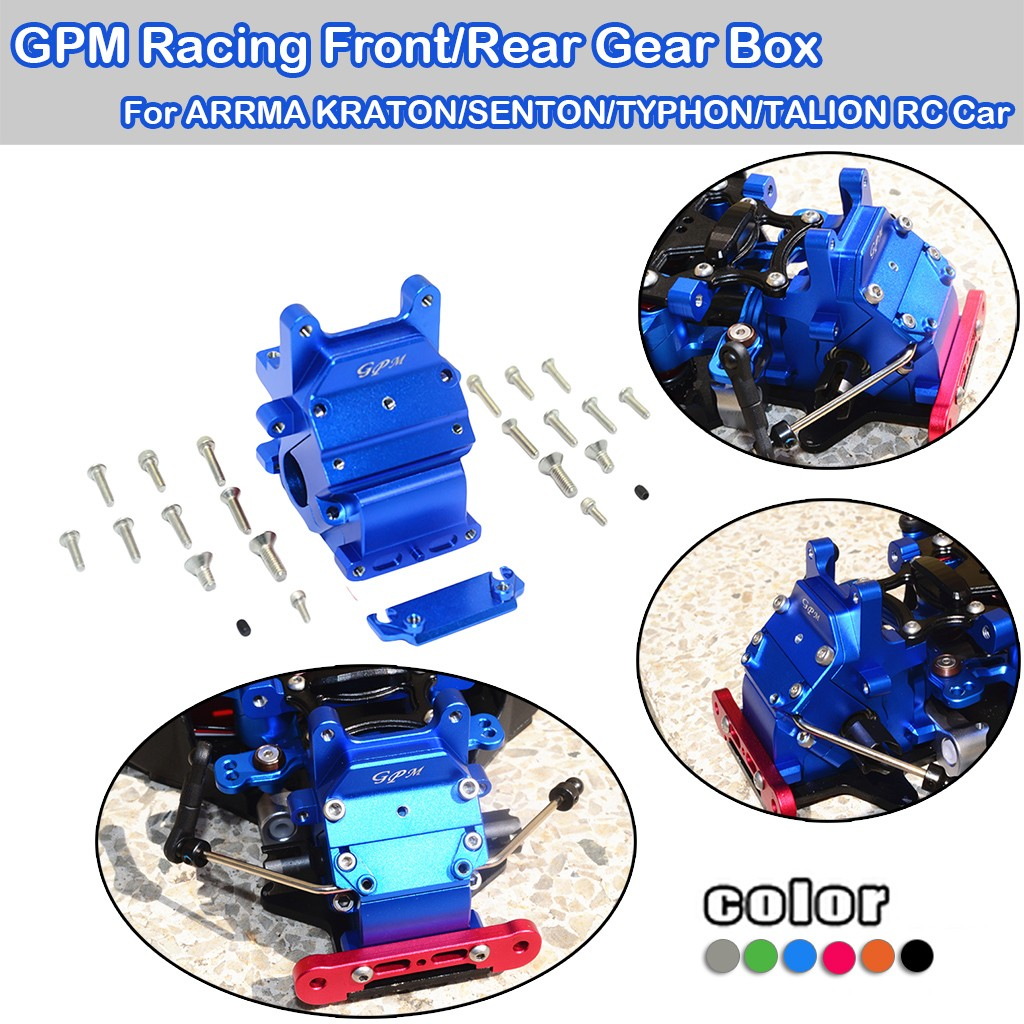 GPM Racing RC Aluminum Front Knuckle Arms for Arrma Senton//Typhon//Talion 6S BLX
