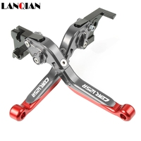 Motorcycle Accessories CNC Adjustable Brake Clutch Levers With LOGO For HONDA CBR125R CBR 125R 2005