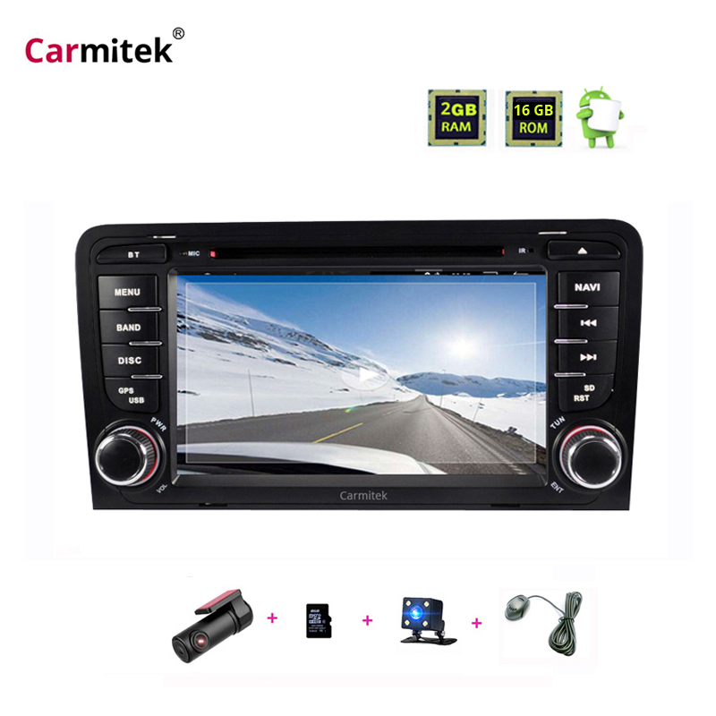 Android Car Radio <font><b>2</b></font> <font><b>din</b></font> DVD player GPS Radio Multimedia for Audi A3 8P S3 RS3 2003 2004 2005 2006 2007 <font><b>2008</b></font> 2009 2010 2011 image