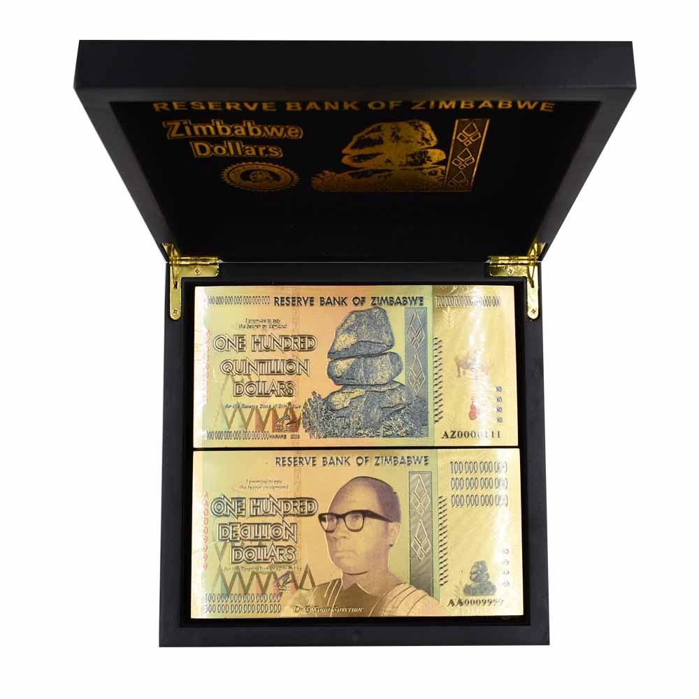 10pcs Zimbabwe 100 Trillion Dollar Banknote Bill Paper Money Collection