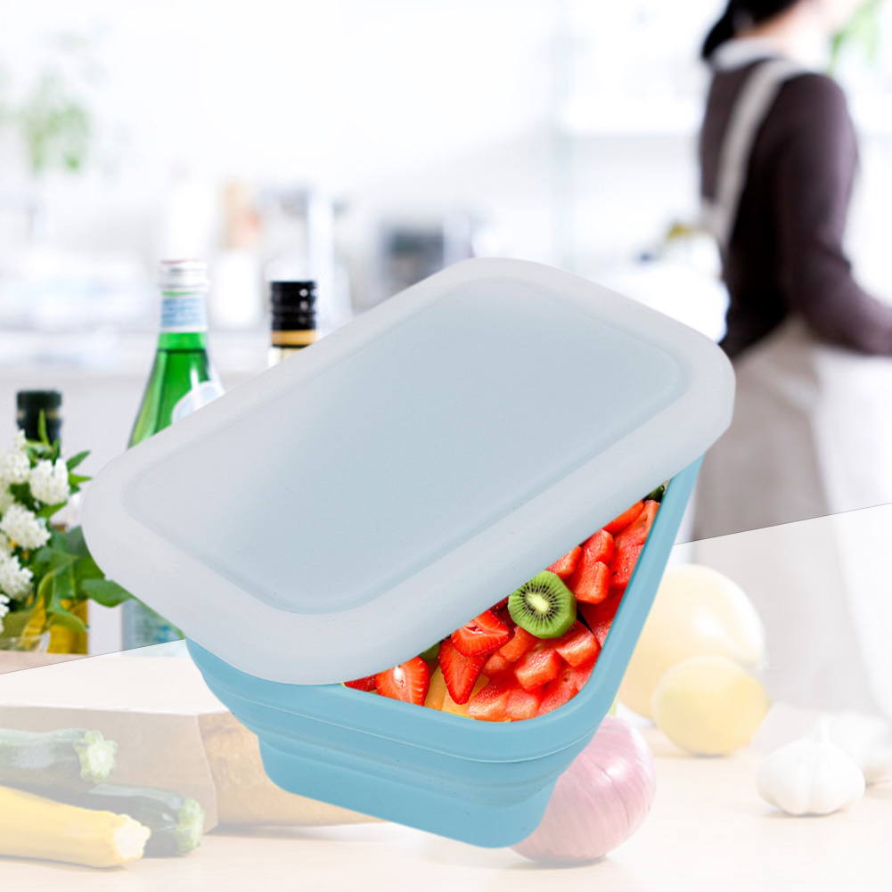 750ml Silicone Folding Lunch Box Food Storage Container Portable Lunch Box For Food Container Bowl For Children Adult in Lunch Boxes from Home Garden