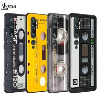 Black Case Shell Vintage Magnetic Tape Cassette for Xiaomi Mi NOTE 10 9 8 Lite 9T SE A1 A2 A3 CC9 SE Lite Mix 3 F1 Phone Cover lavaza comic schwarz punisher anime hard phone cover for xiaomi mi 8 a2 lite 9 se a1 max 3 f1 for redmi 7 go case