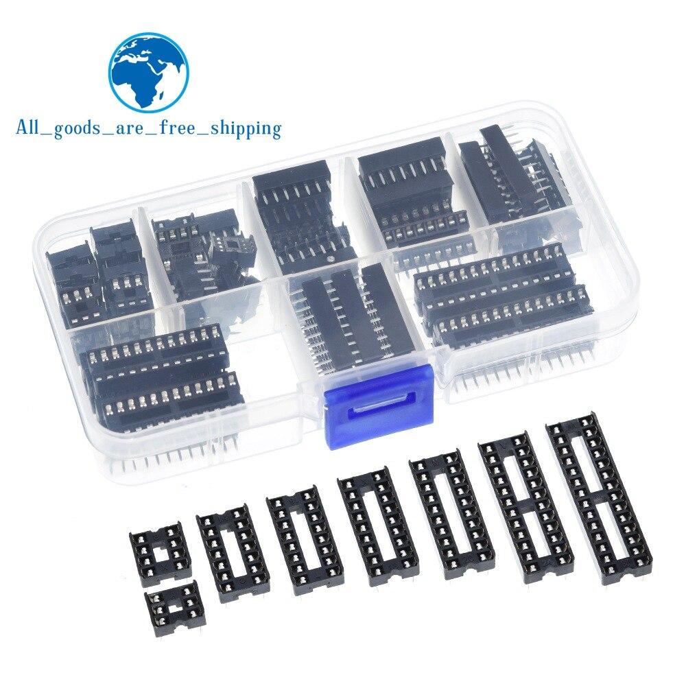 66 шт./лот DIP IC розетки адаптер паяльный Тип Комплект розеток 6,8,14,16,18,20,24,28 контактов Новый
