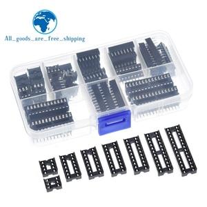 66PCS/Lot DIP IC Sockets Adaptor Solder Type Socket Kit 6,8,14,16,18,20,24,28 pins New