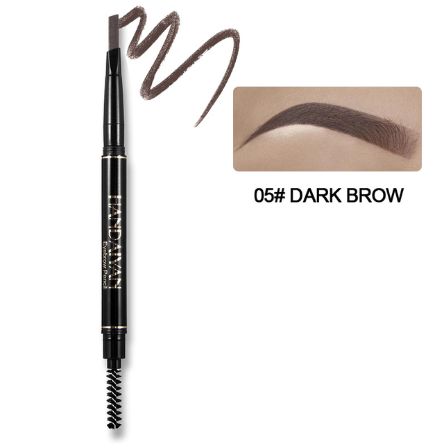 Eyebrow Pencil 5 Color Double Head Manual Rotation Eyebrow Pencil Waterproof Durable Makeup Is Not Blooming Tattoo Dyed Pen 4