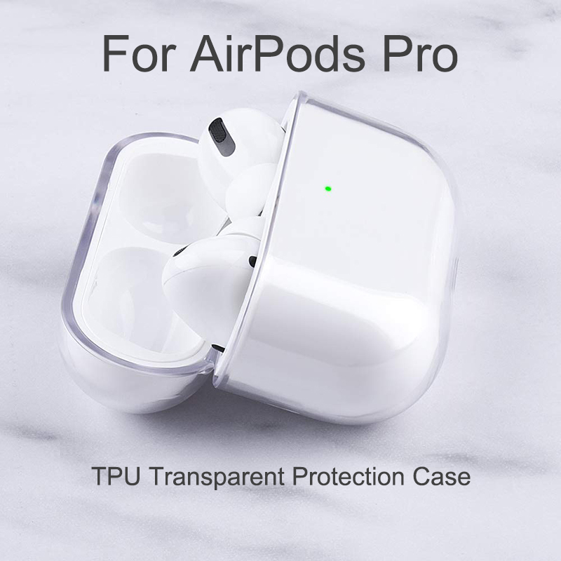US $0.99 20% OFF|For AirPods Pro Soft TPU Protector Cover Transparen Box for Apple Air Pods 3 Bluetooth Wireless Earphone Cases|Earphone Accessories|