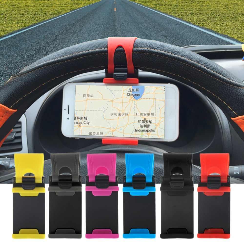 Copertura del Volante dell'automobile Della Bici Della Clip del Supporto Del Supporto di Gomma Della Fascia Per il iPhone iPod MP4 GPS Mobile Sostegni telefono copertura auto Nuovo