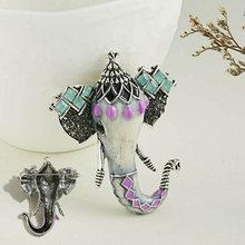 Винтажная Брошь булавка в виде животного эмаль сплав кристалл