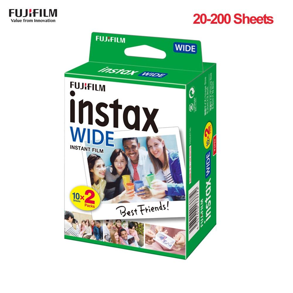 Широкоугольный фотоаппарат Fujifilm Instax, 20-200 листов, мгновенная фотобумага для Fujifilm Instax WIDE300, пленка для камеры Instax