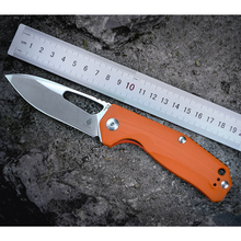 Kizer Survival Knives Camping Outdoor Knife Drop Point Blade, Orange G10 Handle V4461N2 Kesmec
