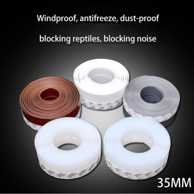 1 Meter Seal Sliding Sealing Strips For Soundproof Door Weatherstrip Draft Stopper Frameless Window Sliding Door Seals Silicon
