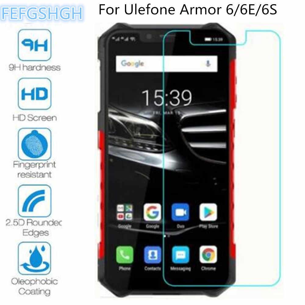 9H 2.5D Kaca Tempered untuk Ulefone Baju Besi 6S Explosion Proof Pelindung Layar untuk Ulefone Baju Besi 6 6E Pelindung kaca Film
