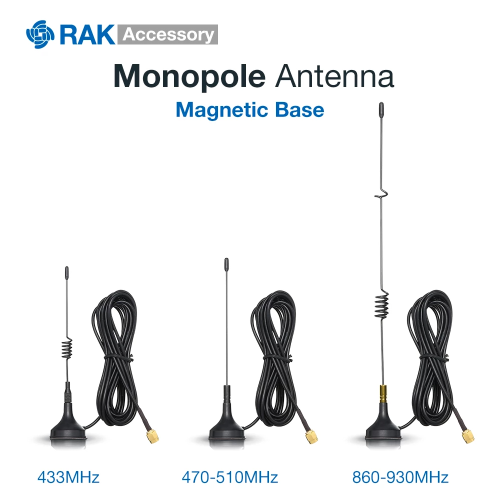 Magnetic Base Monopole Antenna.It Tuned For Operation In The License-free Spectrum Band Of 433 MHz, 470-510 MHz, And 860-930 MHz
