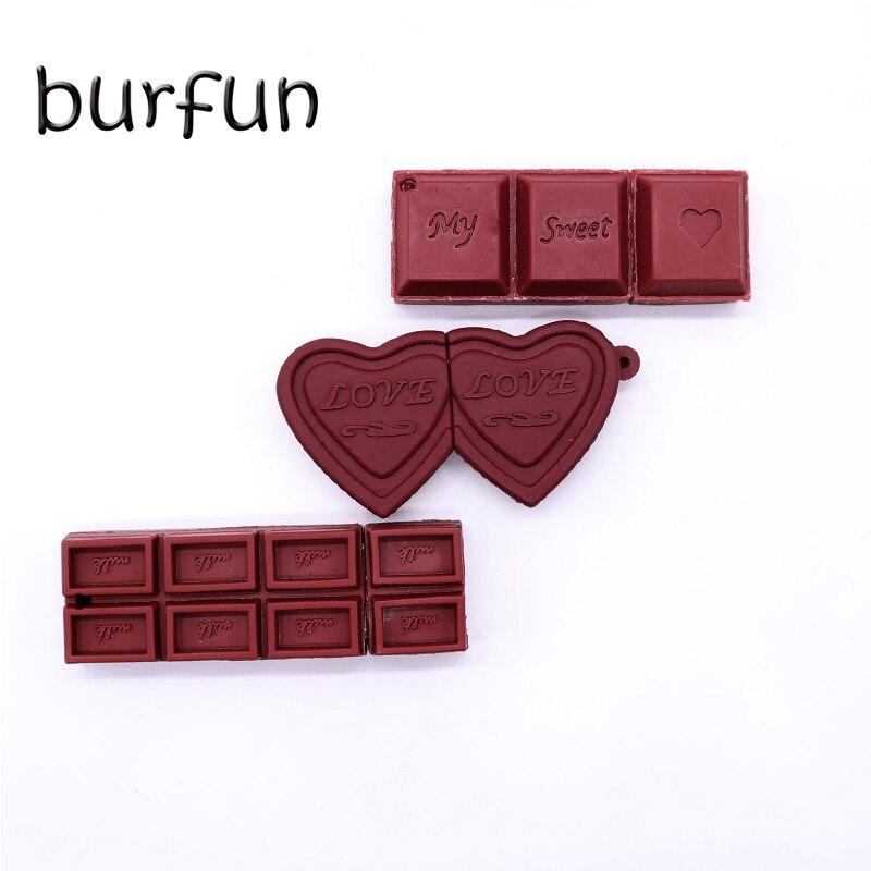 Burfun Usb Flash Disk Chocolate Pendrive 128GB 32GB 16GB 64GB Animado Pen Drive Ofertas Con Envio Gratis Pen Drive Creativo