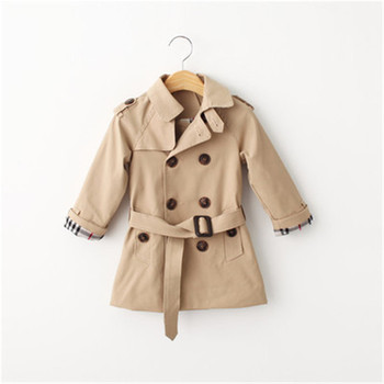Baby Girls Children Trench Coats  Girls jacket kids Trench Wind Dust children's clothing girl trench coat  fashion Outerwear