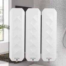 Dispensador de jabón líquido para pared, ABS, plástico, para baño, 350ml, champú, pegamento sin clavos, contenedor de jabón, 3 colores