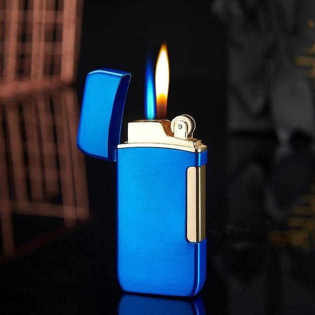 Фото газовая зажигалка с двумя пламенями шлифовальный фонарь турбо цена