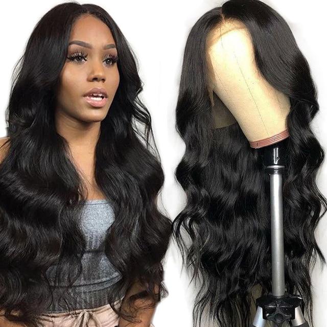 Бразильский парик Alibele 13x 4/4x4 с волнистыми волосами, 150% предварительно выщипанный парик на сетке спереди, парик на сетке 4x4, парик на сетке, волнистые человеческие волосы, парик для женщин