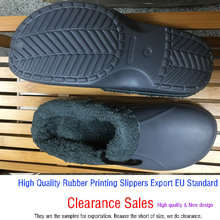 Clearance Sales Eco Unisex Warm Winter Fur Garden Shoes Clog Indoor Casual Home Slippers EVA Flat Clogs Footwear