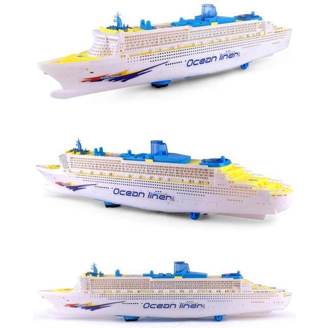 Simulation ship model children's light music cruise ship ship universal electric toy F7D0 3