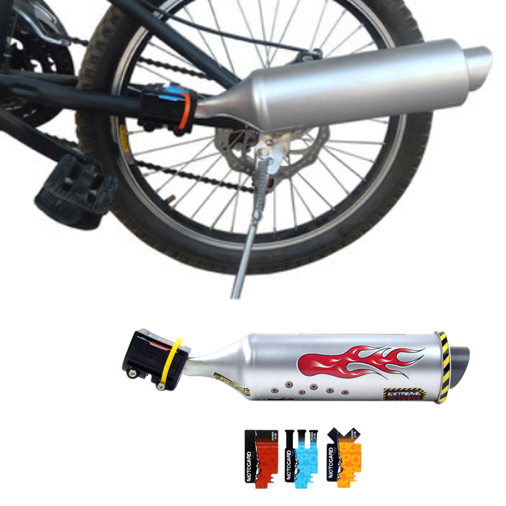 Turbo System Plastic Exhaust Pipe Sounds Scratch Proof Installation Bicycle Bike Engine Motorcycle Spoke Replacement Accessories