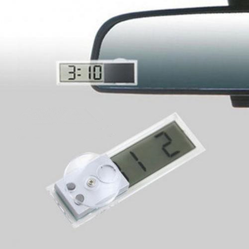 Car Chuck Type Electronic Clock Automotive Electronic Table Transparent LCD Digital Clock Automotive Supplies