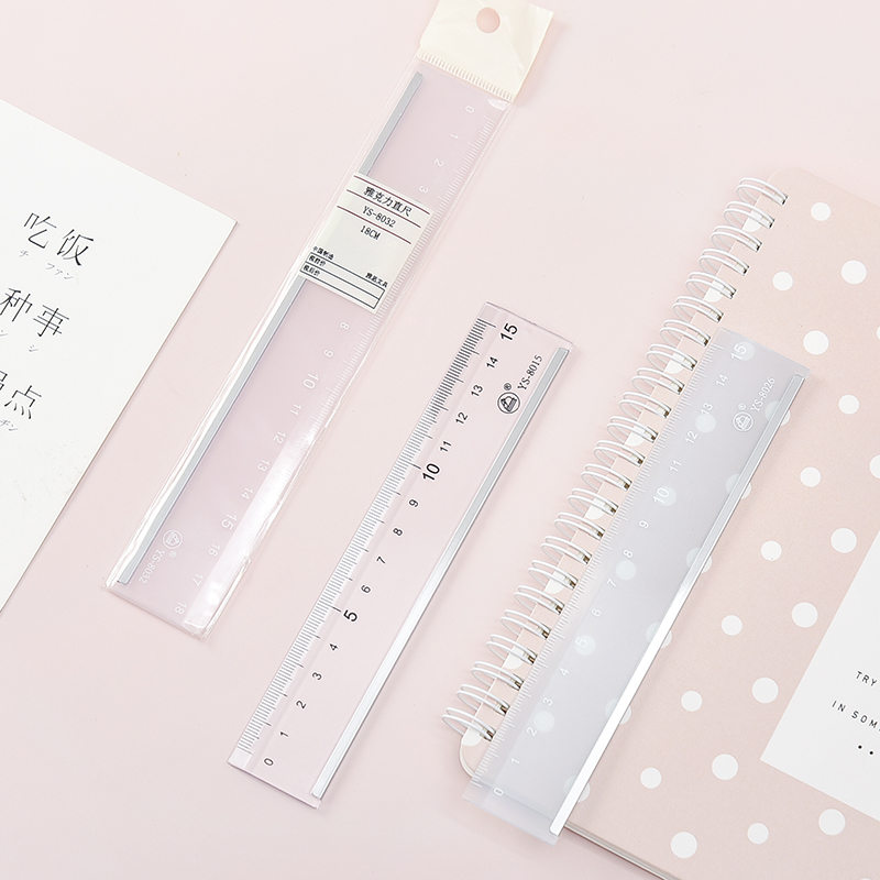 Light color new cute ruler Kawaii study ruler multifunction drawing ruler for student office school supply stationery new arrive