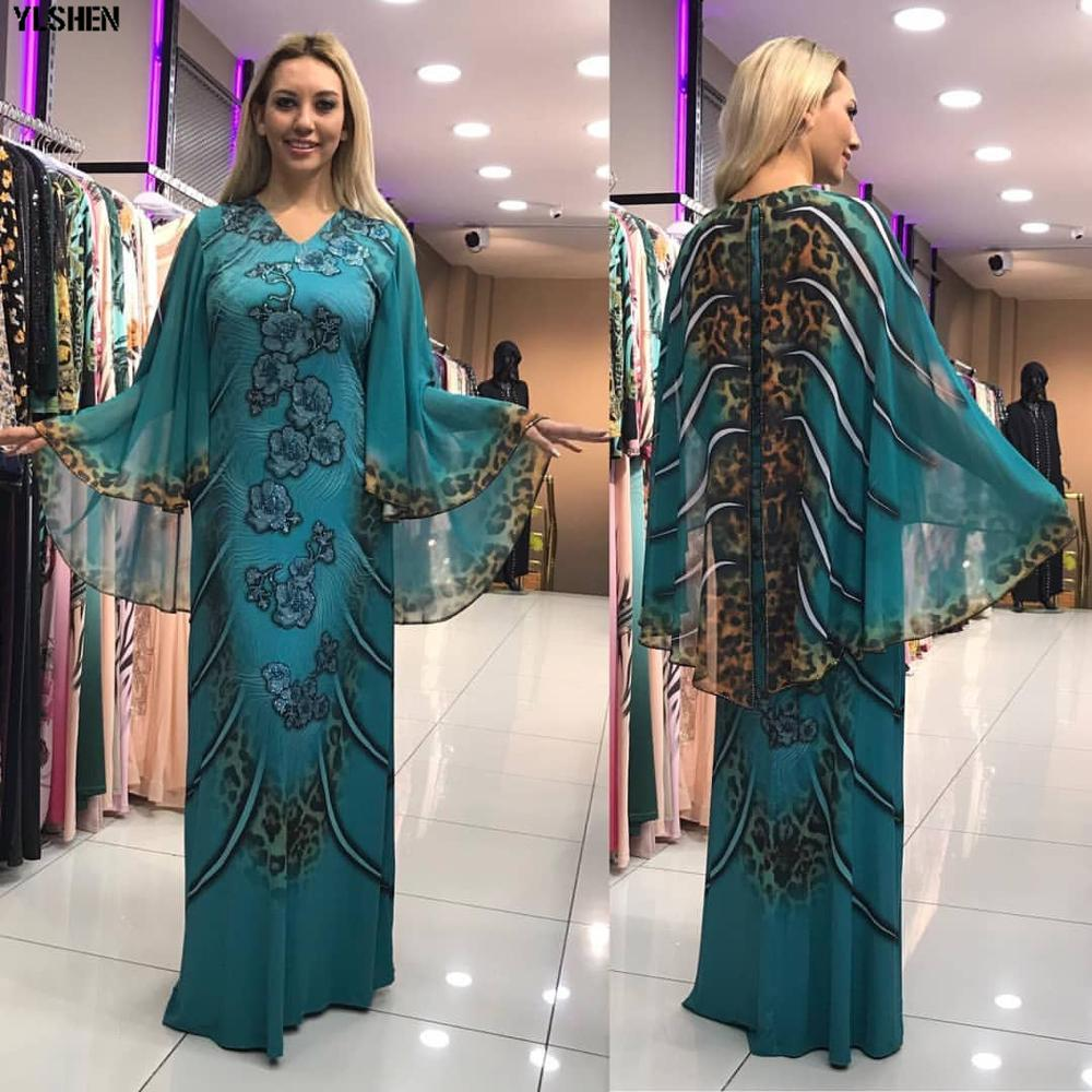 Length 150cm African Dresses For Women Dashiki Print African Clothes Sexy Slim Robe Africain Big Sleeve Africa Dress Clothing