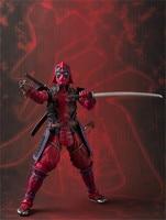 Deadpool Action Figures Sic Samurai Taisho 170mm Realization Anime Deadpool Iron Man Figurine Toys Gift