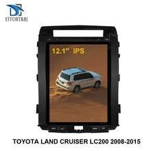 Автомобильный аудио вертикальный экран Tesla Android 9,0 Автомобильный GPS навигатор для TOYOTA LAND CRUISER LC200 2008-2015 автомобильный мультимедийный плеер BT