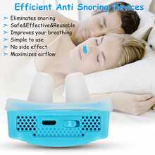 Upgrade Electric Silicone Anti Snore Nose Stopping Breathing Apparatus Guard Sleeping Aid Mini Snoring Device Relieve Snoring(China)
