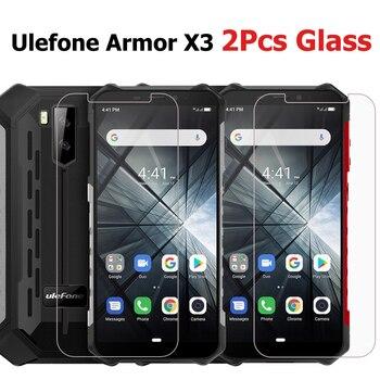 Перейти на Алиэкспресс и купить Закаленное стекло для Ulefone Armor X3, 2 шт., защита для экрана, защита от царапин, ЖК-пленка для Ulefone Armor X 3, чехол для телефона 5,5 дюйма