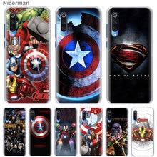 Marvel Avengers Iron Man Captain America Phone Cases for Xiaomi Mi A3 Lite A1 A2 Lite CC9 cc9e 9T Mi 8 Lite 5X 6X Play Hard Hous
