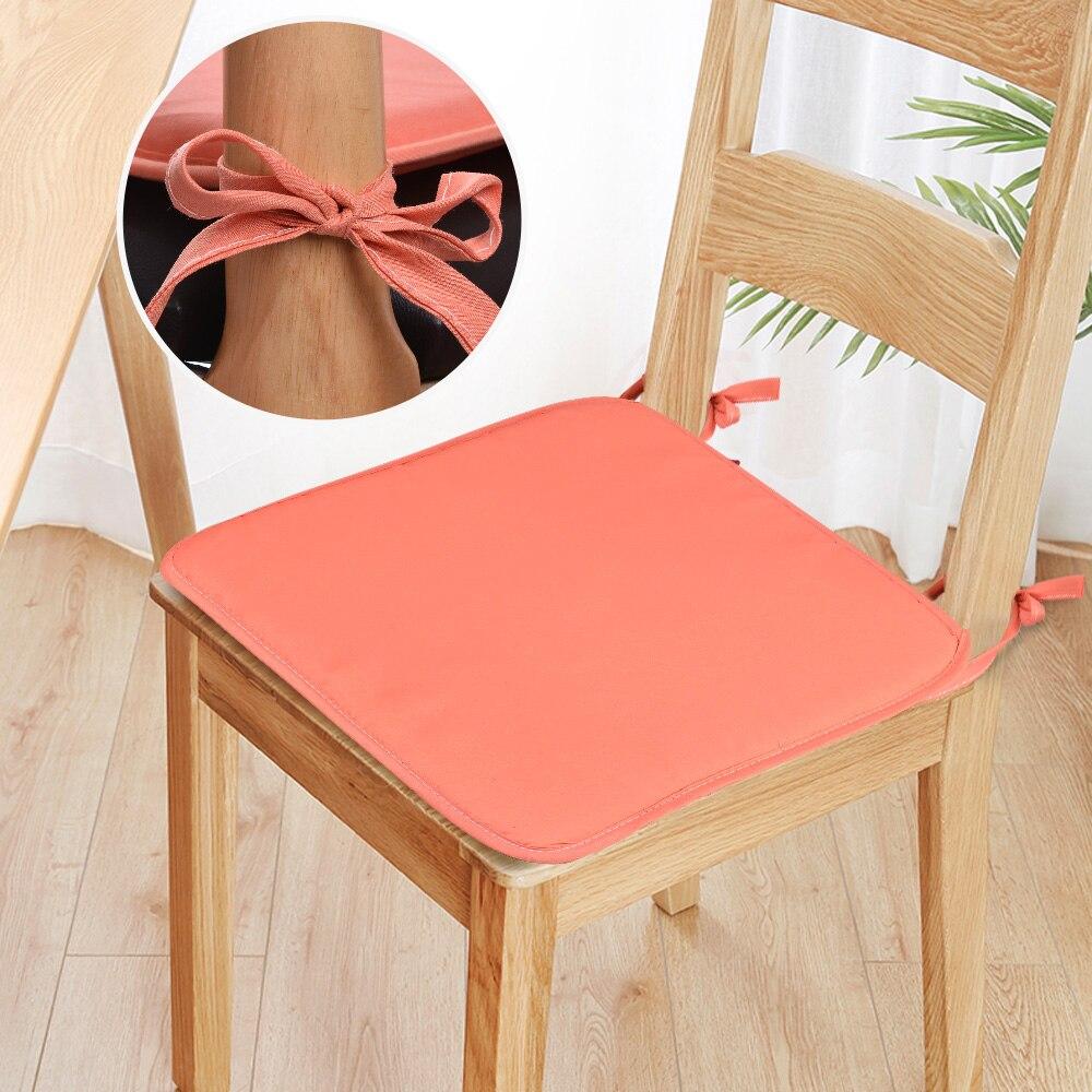 Urijk 37x37cm/28x28cm Super Soft Cotton Chair Cushion Non-Slip Seat Cushions Back Cushion Chair Pads Home Office Chair Seat Pads
