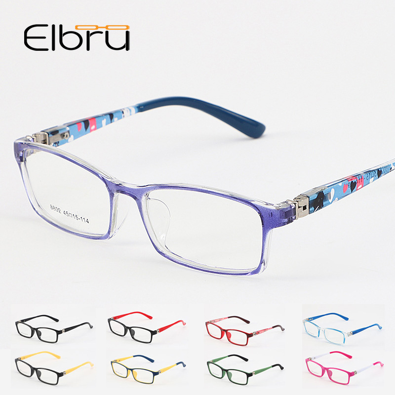 Elbru Square Optical Glasses Frame For Kids Boys Girls Myopia Glasses Frames With Clear Lens For Students 2019 New Spectacles