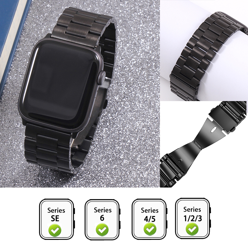 Cinturino per Apple Watch6 5 4 3 2 1 42mm 38mm 40MM 44MM cinturino in metallo in acciaio inossidabile cinturino per cinturino per accessori serie iWatch 2