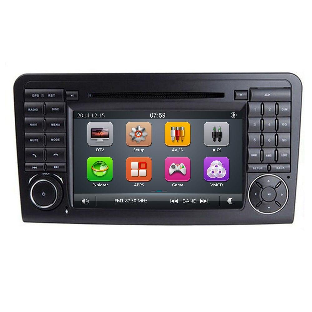 Reproductor estéreo de DVD de coche IPS para Mercedes/Benz GL ML clase W164 ML350 ML500 X164 GL320 con mapas BT GPS Radio - 3